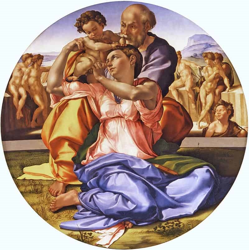 On Michelangelos Holy Family