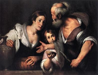 Text Box:   Bernardo Strozzi (1581-1644), Elijah and the Widow