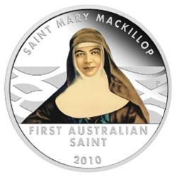 The Perth Mint :: 2008 - 2010 Coin Releases :: 2010 Saint Mary MacKillop  1oz Silver Proof Dollar Coin